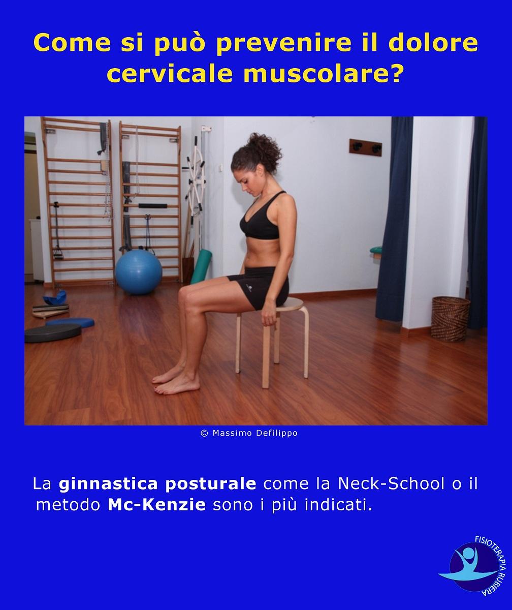 Come si può prevenire il dolore cervicale muscolare