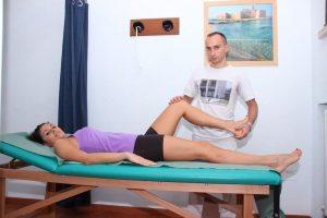 Test per la distrazione o rottura dei legamenti collaterali mediali, con rotazione esterna del ginocchio fisioterapia, riabilitazione e rieducazione motoria
