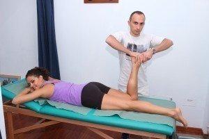 Test per il menisco interno o mediale, mc murray con compressione dei menischi e rotazione esterna del ginocchio