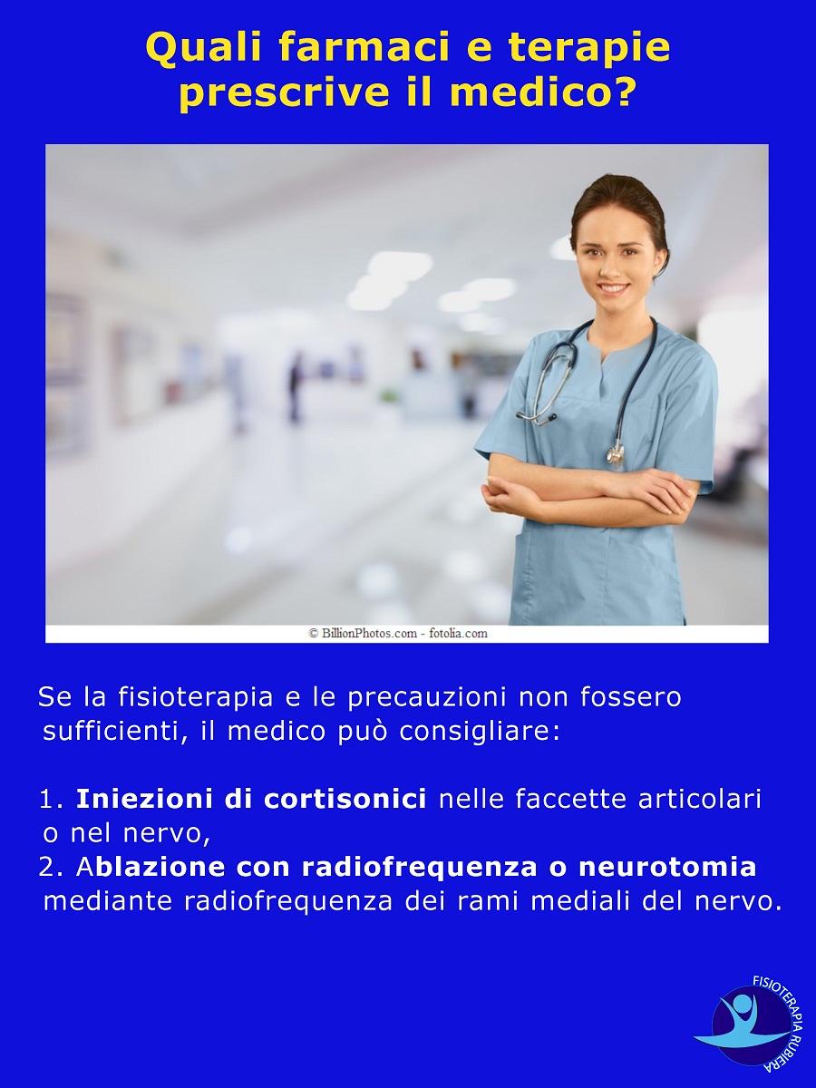 farmaci e terapie sindrome faccette articolari