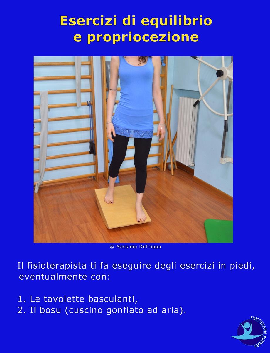 Esercizi di equilibrio e propriocezione