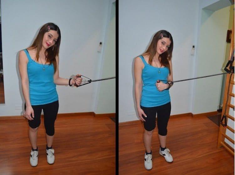 esercizi per la spalla,Rotazione interna