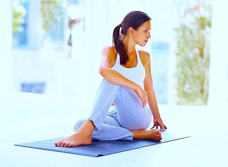 esercizio,stretching,fibromialgia,yoga,allungamento,forma,fisica,dolore,infiammazione