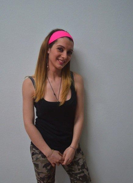 bella ragazza,in piedi,fascia,capelli