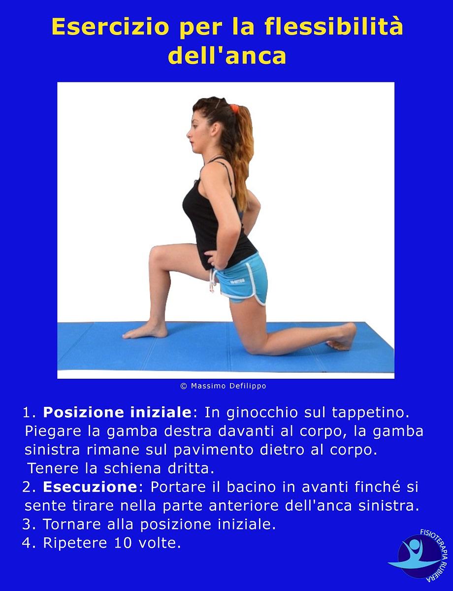Esercizio per la flessibilità dell'anca