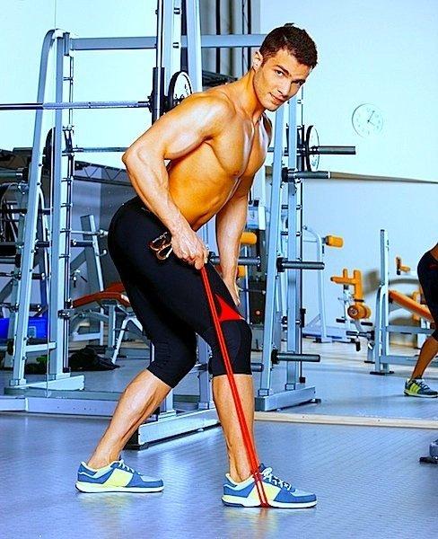 Pull,back,palestra,rafforzamento,spalla,elastico,forza,muscolare