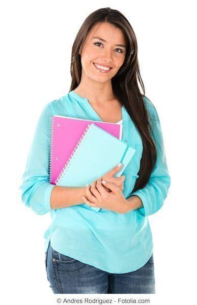 ragazza,quaderno,studente