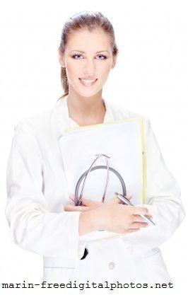 Dottoressa,camice bianco