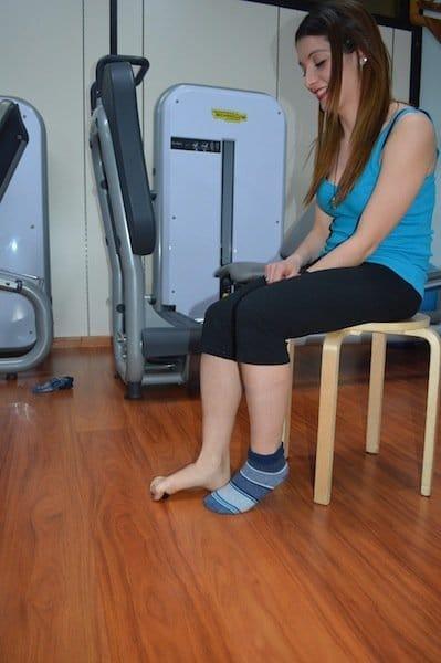Esercizio,piedi piatti,sollevamento,oggetti