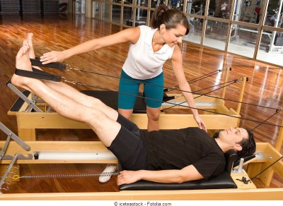Esercizio,pilates,glutei,reformer