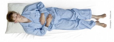 Dormire,posizione supina,donne