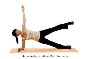 Plank laterale,sollevamento gamba,esercizio per i fianchi