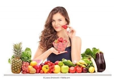Frutta,verdura,ragazza