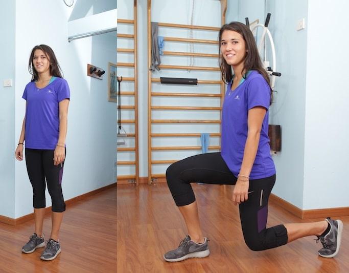 lunge,esercizio,coscia,gluteo,posteriore