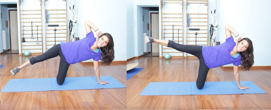 Side Kick,esercizio di pilates,gambe,esterno coscia