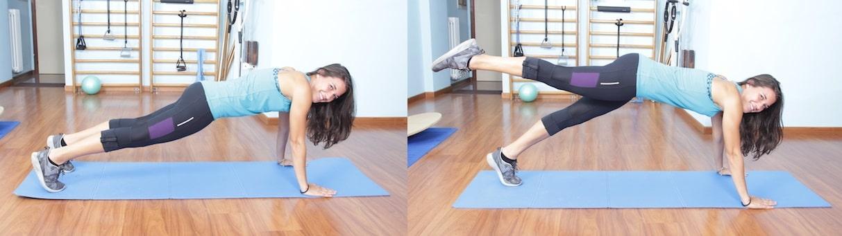 leg pull front,pilates,glutei