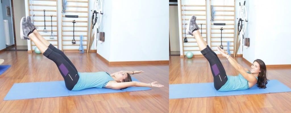 Teaser,esercizio,addominali,pilates
