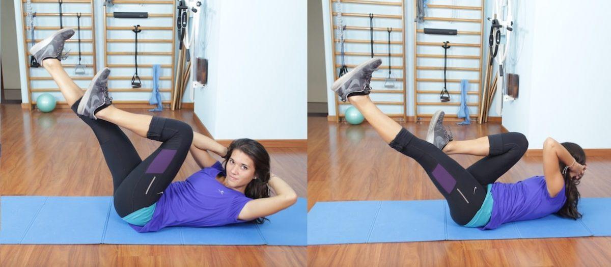 Criss Cross,addominali,obliqui,esercizio,pilates