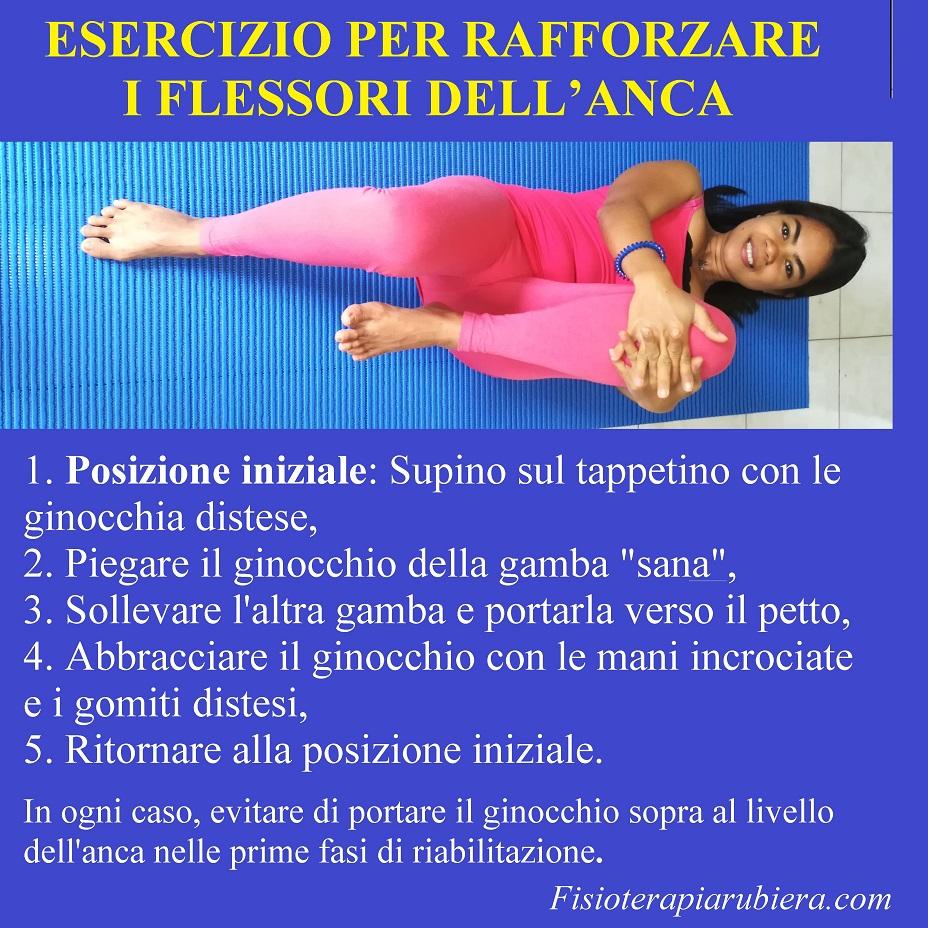 esercizio per flessori anca