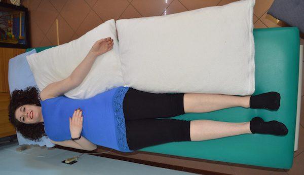 postura a letto, paziente emiplegico, supino