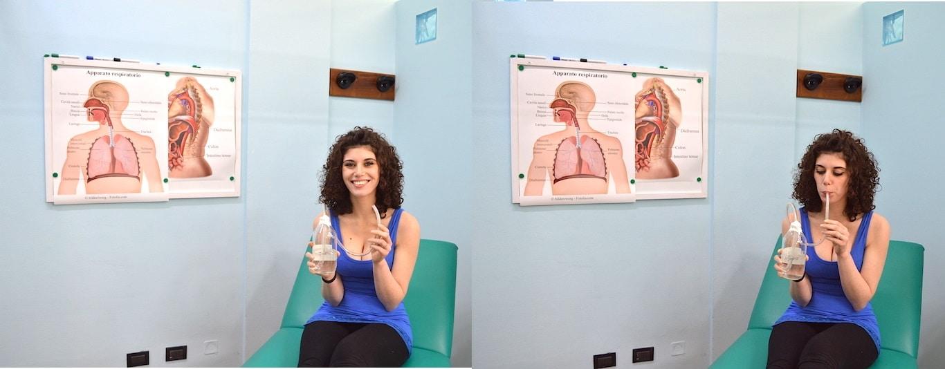 riabilitazione respiratoria,bottiglia pep