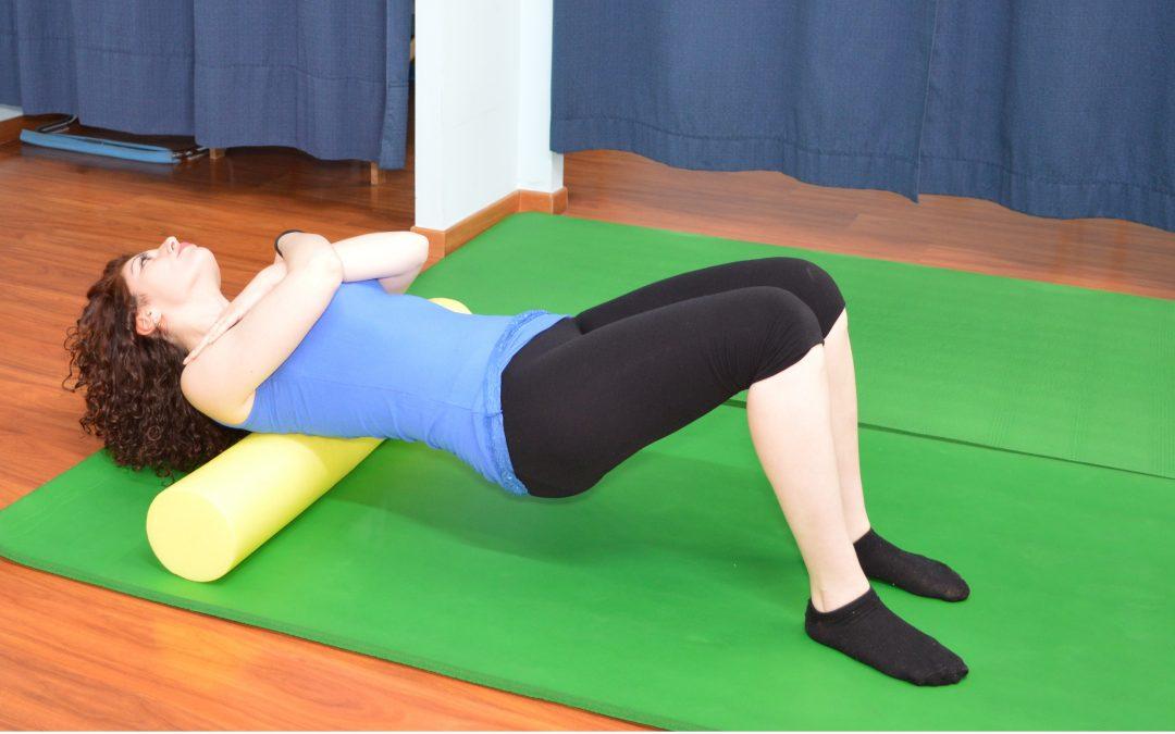 Foam roller per il massaggio dei muscoli