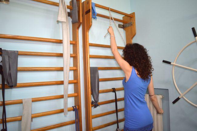 esercizio per la spalla, con la corda