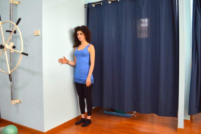 isometrico, spalla, muro