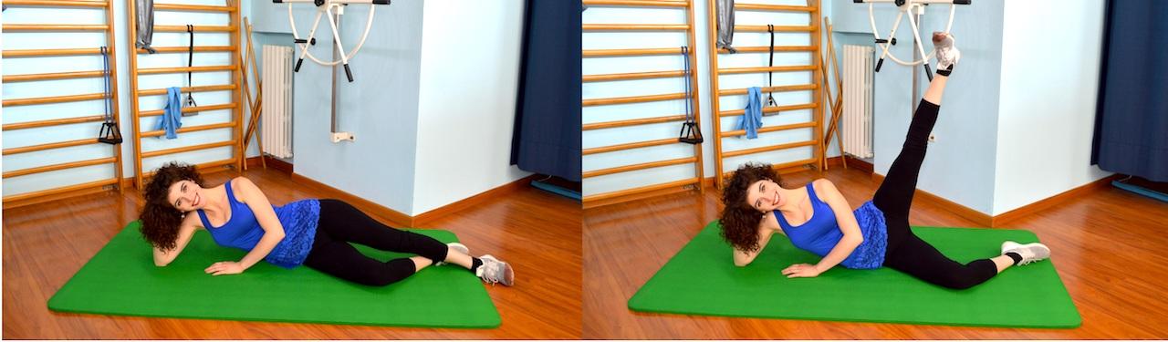sollevamento gamba laterale