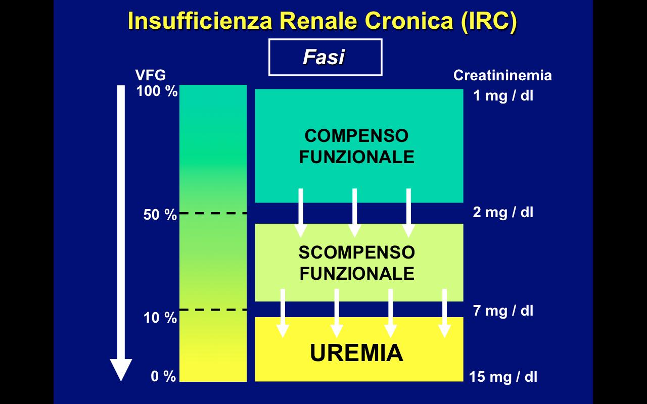 insufficienza renale cronica, stadi, uremia