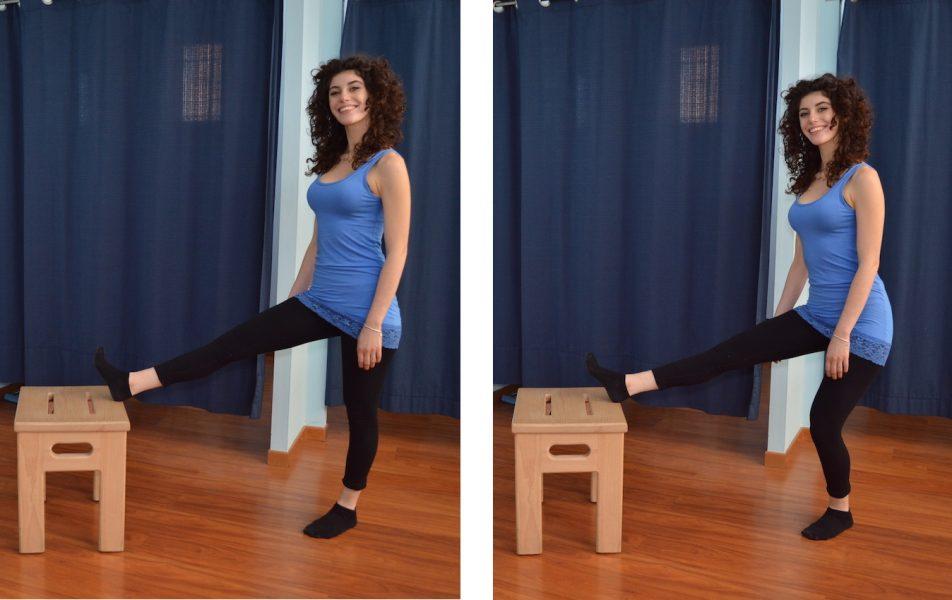 stretching pNF flessori ginocchio
