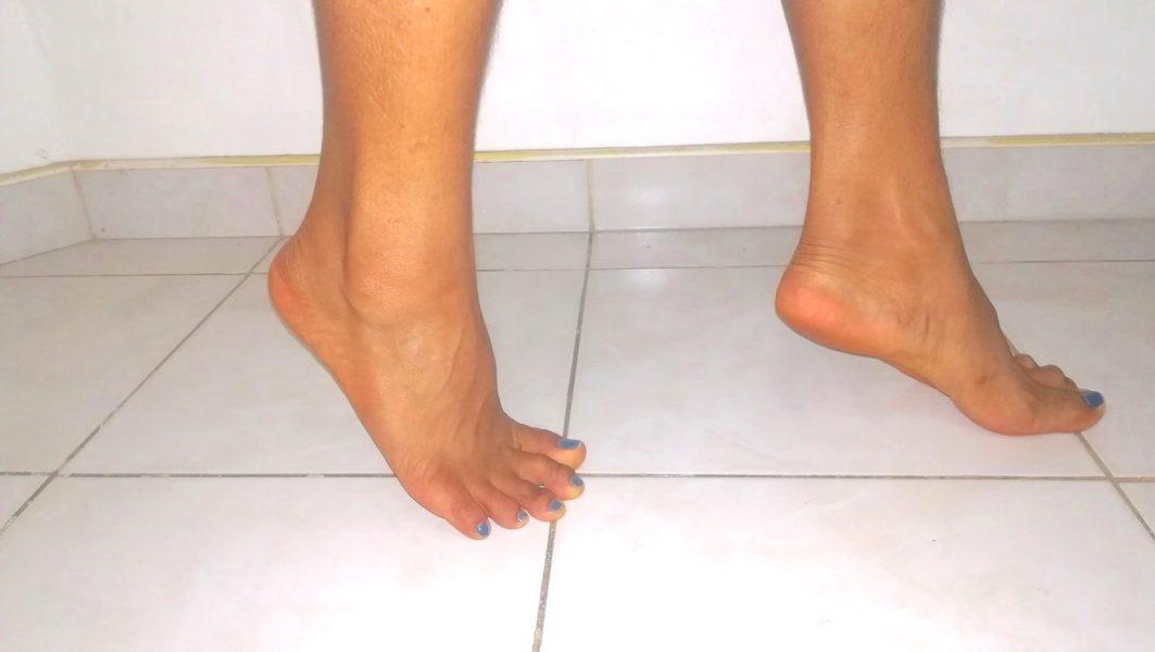 camminare, punta di piedi