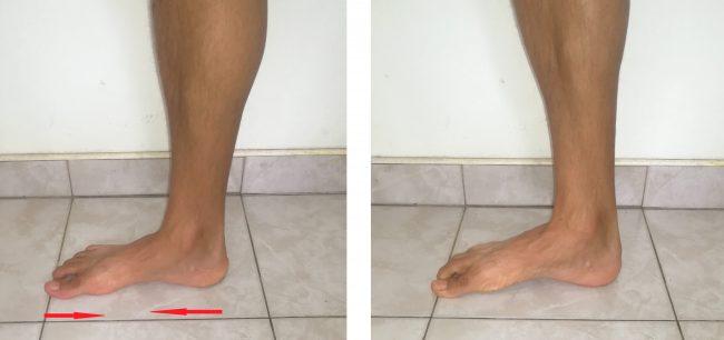ejercicio di acortamiento del pie