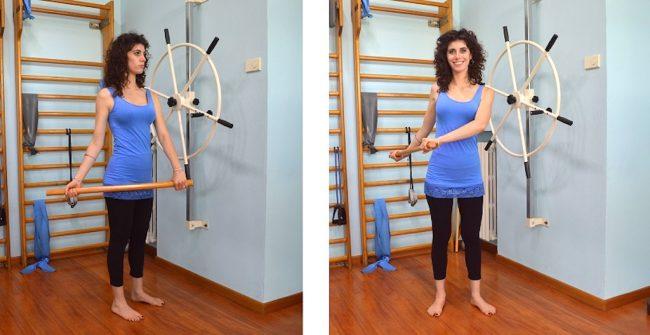 esercizio mkcenzie, estensione spalla