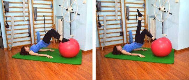 ejercicio de refuerzo de glúteos, equilibrio