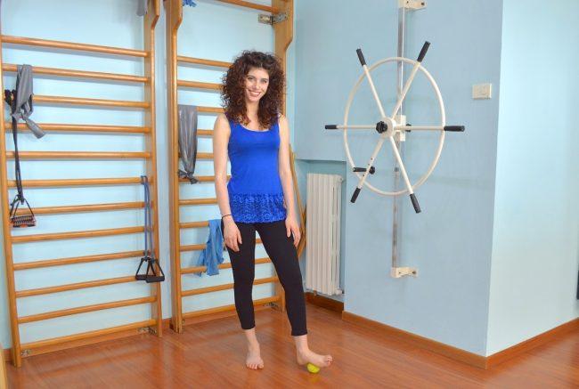 ejercicio, rodamiento, pelota