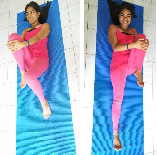 estensione anca, ginocchio piegato