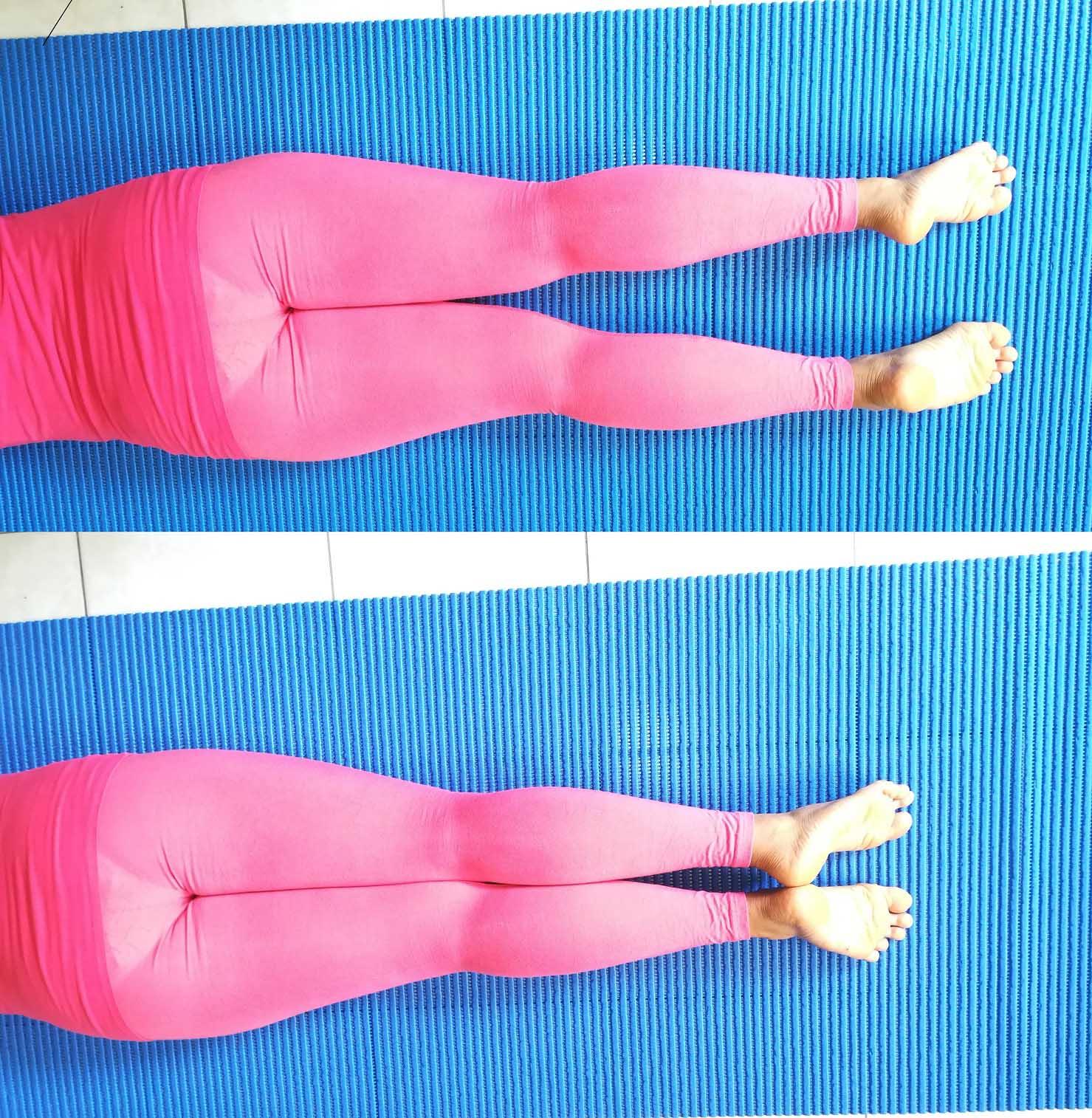 rotazione esterna, anca, prono