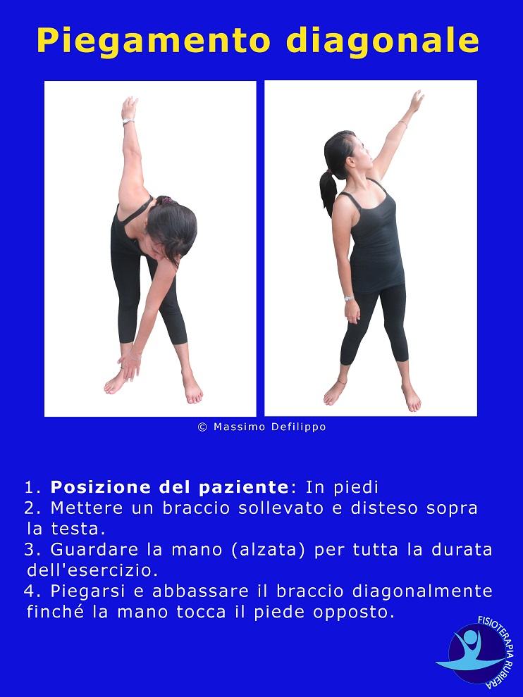 Piegamento-diagonale, esercizio vertigini