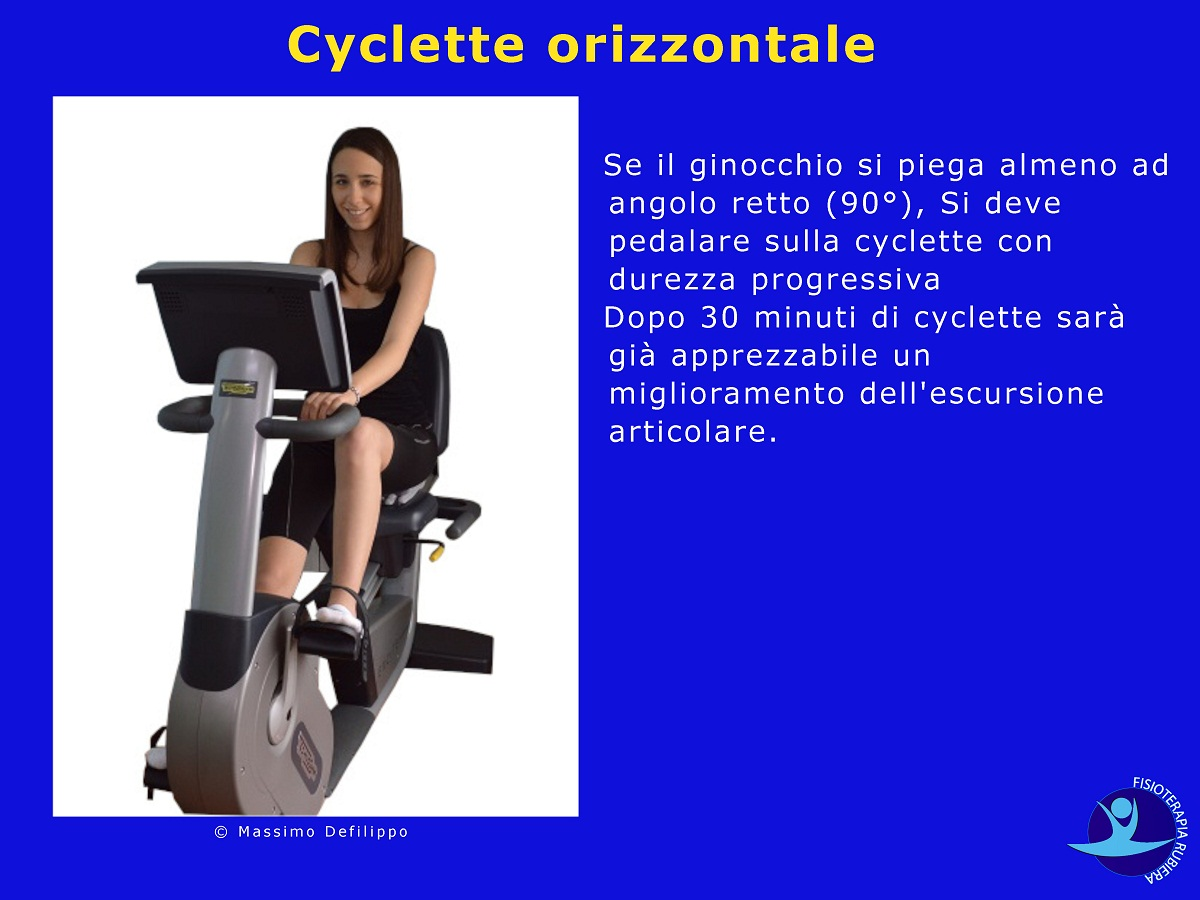 Cyclette orizzontale