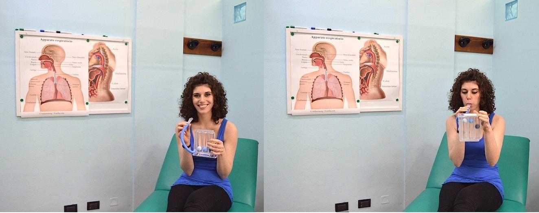 riabilitazione respiratoria,incentivatore di flusso respiratorio