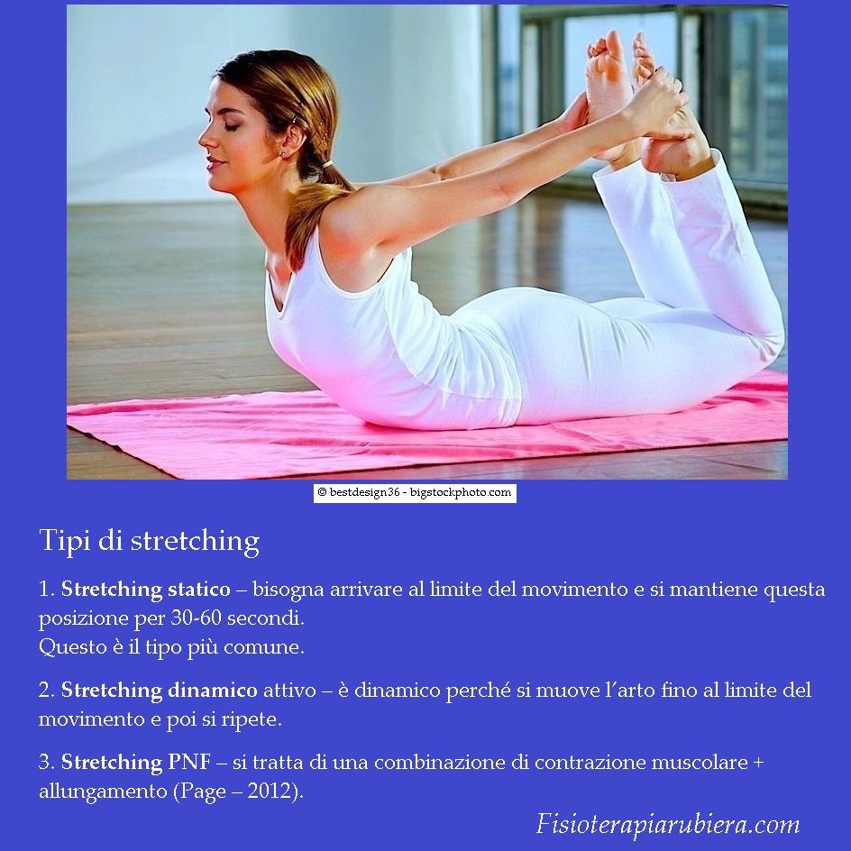 tipi-stretching, pnf, statico, dinamico