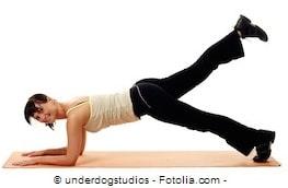 plank leg lift,esercizio gluteo