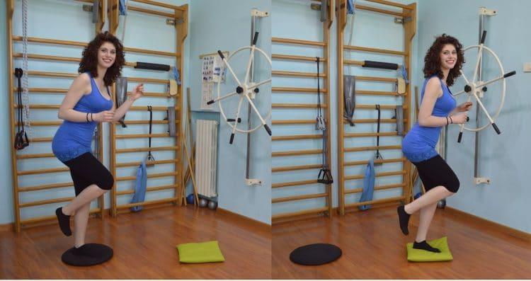 Salto con una gamba,esercizio di riabilitazione