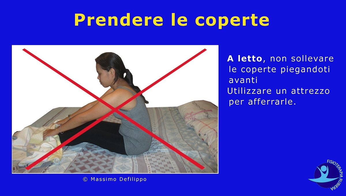 Prendere coperte,protesi anca