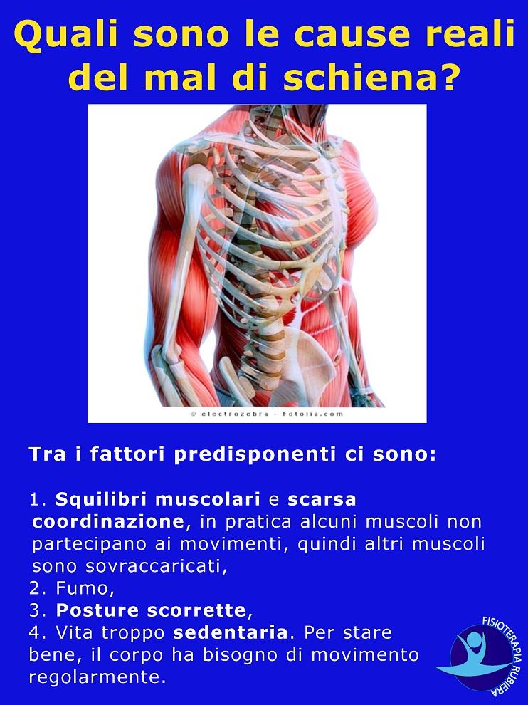 fattori rischio mal di schiena