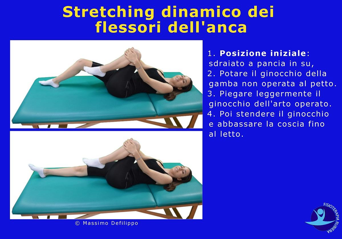 Stretching dinamico flessori anca