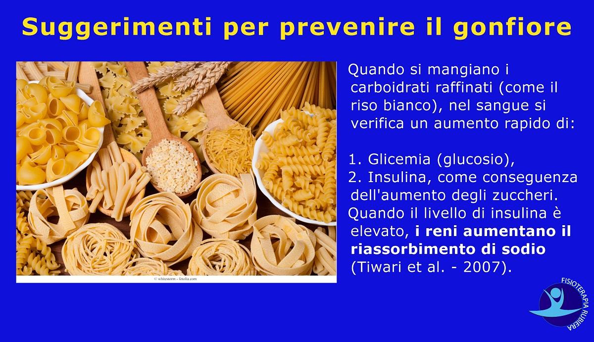 Suggerimenti per prevenire il gonfiore