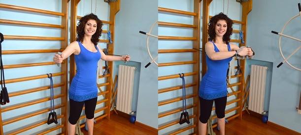 esercizio, abbraccio,adduzione,spalla