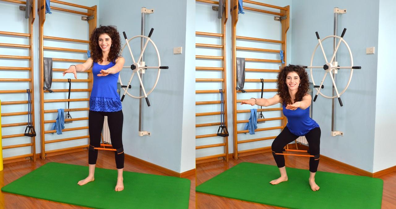 squat con elastico